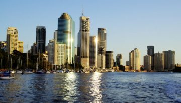Brisbane City Skyline Australia
