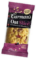 carmans cranberry oat slice