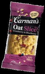 carmans cranberry oat slice