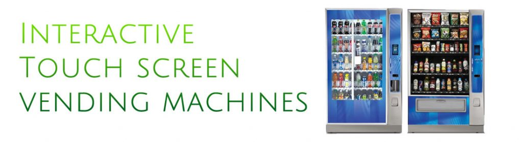 slide interactive touch screen vending machines
