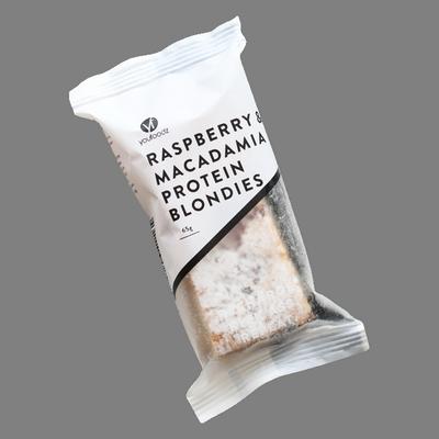 Raspberry Macadamia Protein Blondies_gvo